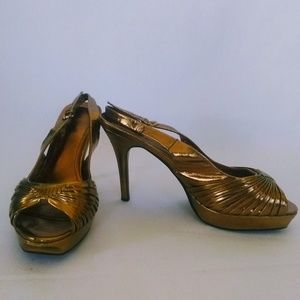 Vintage Gold Disco Goddess Anne Michelle Heels